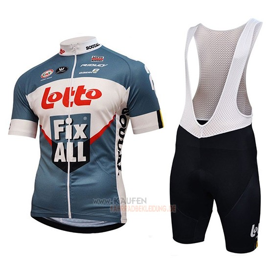 Lotto Fix All Kurzarmtrikot 2018 und Kurze Tragerhose Wei Blau
